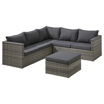Loungeset Torino Antraciet Wicker