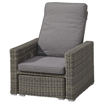 Loungestoel Deluxe Levante Grijs Wicker
