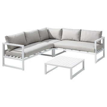 Loungeset Chelva Wit Aluminium