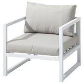 Loungestoel Chelva Wit Aluminium