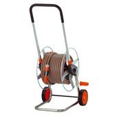Gardena slangenwagen compleet metaal oranje met grijs 30 meter