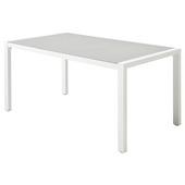 Tafel Chelva Wit Aluminium 160x90x75 cm