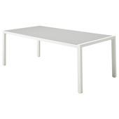 Tafel Chelva Wit Aluminium 210x90x75 cm