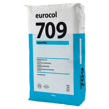 Eurocol 709 superflex poedertegellijm grijs 25kg.