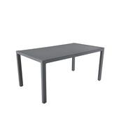 Tafel Livorno Antraciet Aluminium 160x90x75 cm