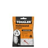 Toggler hollewandplug TB-6 9-13 mm 6 stuks