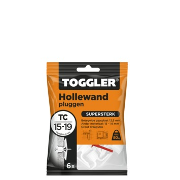 Toggler hollewandplug TC-6 16-19 mm 6 stuks