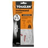 Toggler hollewandplug TB-20 9-13 mm 20 stuks