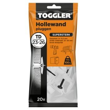 Toggler hollewandplug TD20 23-26 mm 20 stuks