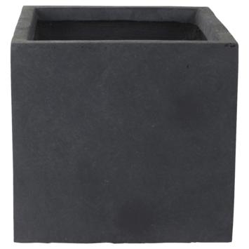 Pot Antraciet Fiberclay 28x28x26 cm