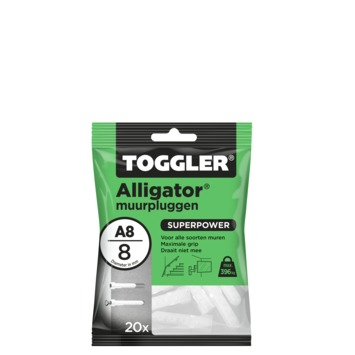 Toggler alligatorplug A8 8 mm 20 stuks