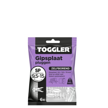 Toggler gipsplaatplug SP 9.5-15 mm 6 stuks