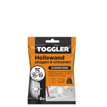 Toggler hollewandplug TC met schroeven 6 stuks