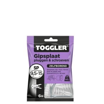 Toggler gipsplaatplug SP 6 met schroeven 6 stuks