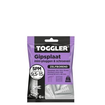 Toggler gipsplaatplug mini SPM 9.5-15 mm met schroeven 6 stuks