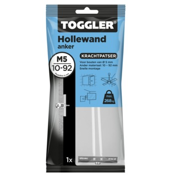 Toggler hollewandanker 10-92 mm M5