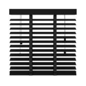 GAMMA horizontale jaloezie hout 50 mm 947 mat zwart 80x180