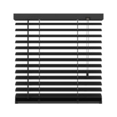 GAMMA horizontale jaloezie aluminium 50 mm 320 mat zwart 140X180