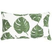 Kussen Blad Monstera Groen 30x50 cm