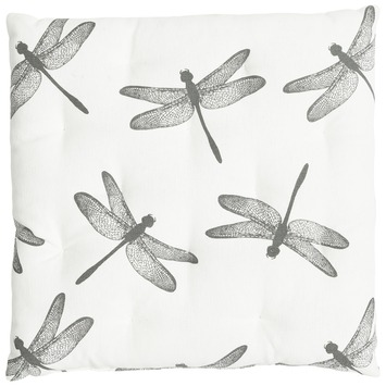 Kussen Libelle Antraciet 40x40x5 cm