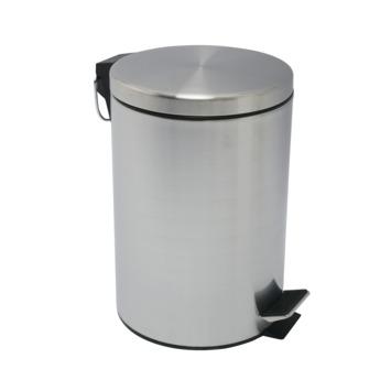 Pedaalemmer rond mat chroom 12 liter