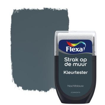 Flexa Strak op de muur Kleurtester Nachtblauw mat 30ml
