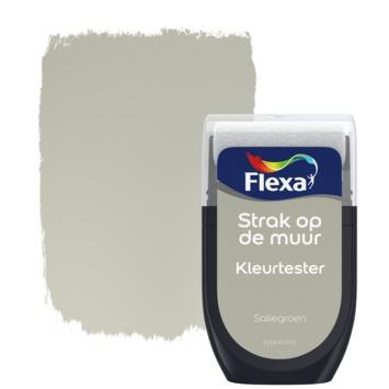 Flexa Strak op de muur kleurtester saliegroen