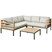 Loungeset Zion Hout/Staal
