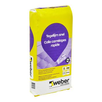 Weber Beamix tegellijm snel grijs 20kg.