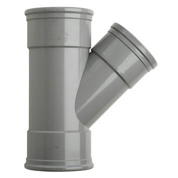 Martens T-stuk 45° PVC grijs 3x schuifmof 125x110x125 mm