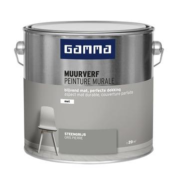 GAMMA muurverf Steengrijs mat 2,5 liter