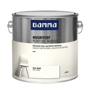 GAMMA muurverf gebroken wit mat 2,5 liter