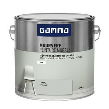 GAMMA muurverf mat 2,5 L linde