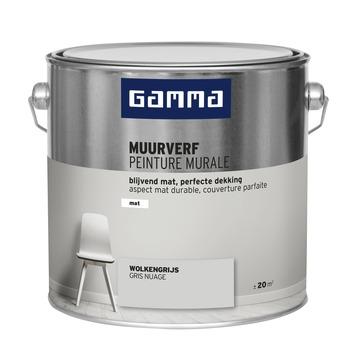 GAMMA muurverf wolkengrijs mat 2,5 liter