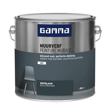 GAMMA muurverf diepblauw mat 2,5 liter