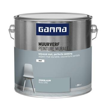 GAMMA muurverf zinkblauw mat 2,5 liter
