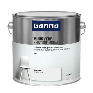 GAMMA muurverf zijdewit mat 2,5 liter