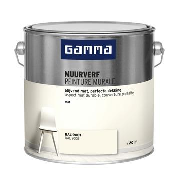 GAMMA muurverf RAL 9001 mat 2,5 liter