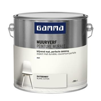 GAMMA muurverf katoen wit mat 2,5 liter