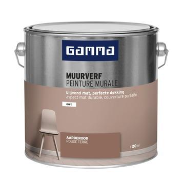 GAMMA muurverf mat 2,5 L aarderood