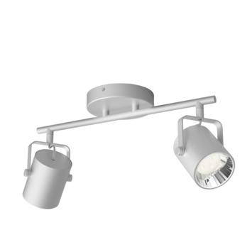 Philips opbouwspot Byre 2-lichts zilver
