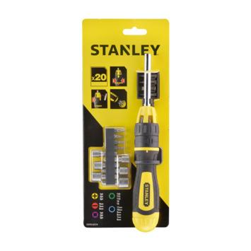 Stanley schroevendraaierset met ratel 20 delig