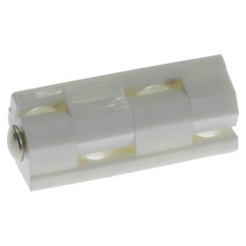 HANDSON Blokscharnier 44 mm wit gelakt - 4 stuks