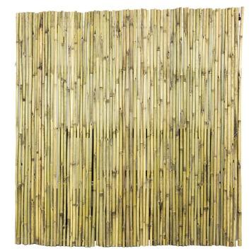 Bamboe Palen Gamma.Bamboe Schutting Naturel 25 28mm Dik 180x180 Cm
