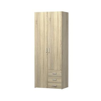 Garderobekast Ivet 2-deurs lichteiken