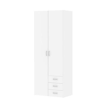 Garderobekast Ivet 2-deurs wit