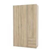 Garderobekast Ivet 3-deurs lichteiken