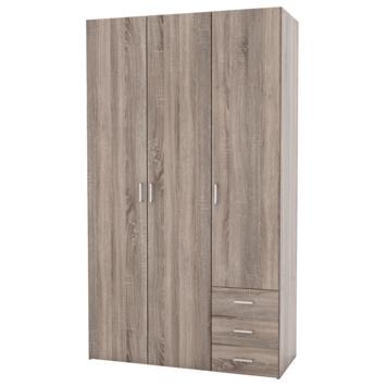 Garderobekast Ivet 3-deurs truffel