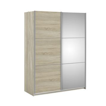 Garderobekast Janneke lichteiken met spiegel 150 cm