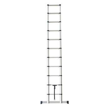 Telescopische ladder 1x11 treden met stabiliteitsbalk